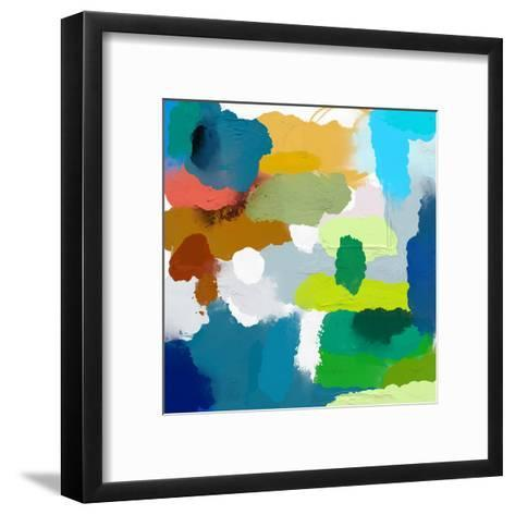 Colored Spots, Which are Arranged on a Plane-Dmitriip-Framed Art Print