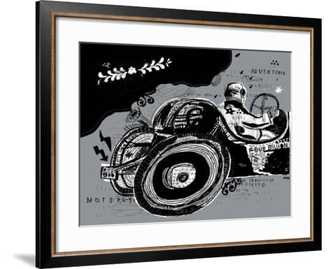 Symbolic Image of an Old Sports Car-Dmitriip-Framed Art Print