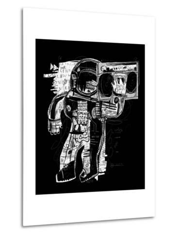 The Symbolic Image of the Astronaut Who Listens to Music on a Tape Recorder-Dmitriip-Metal Print