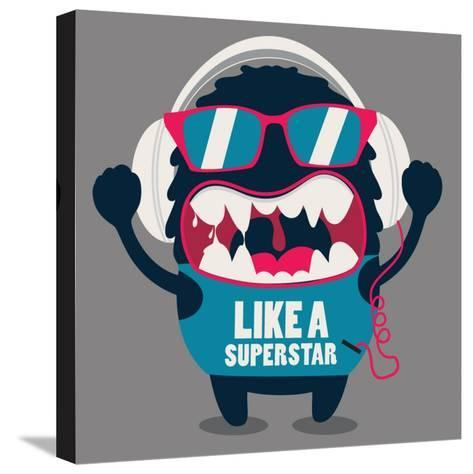 Monster Graphic- braingraph-Stretched Canvas Print