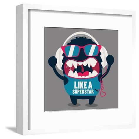 Monster Graphic- braingraph-Framed Art Print