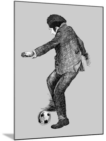 Image of a Disabled Person Who Plays Soccer-Dmitriip-Mounted Art Print