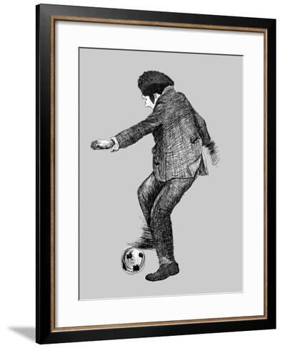 Image of a Disabled Person Who Plays Soccer-Dmitriip-Framed Art Print