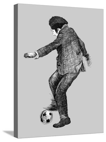 Image of a Disabled Person Who Plays Soccer-Dmitriip-Stretched Canvas Print