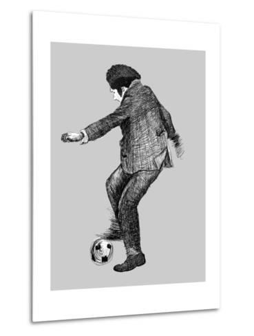 Image of a Disabled Person Who Plays Soccer-Dmitriip-Metal Print