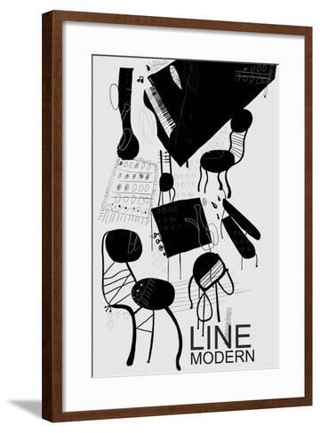 The Symbolic Image of the Furniture, Which is in the Room-Dmitriip-Framed Art Print