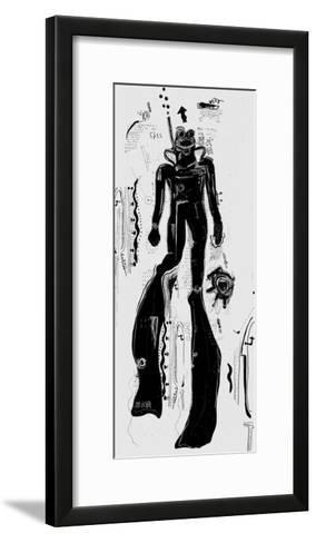 The Symbolic Image of a Diver that Floats to the Surface-Dmitriip-Framed Art Print