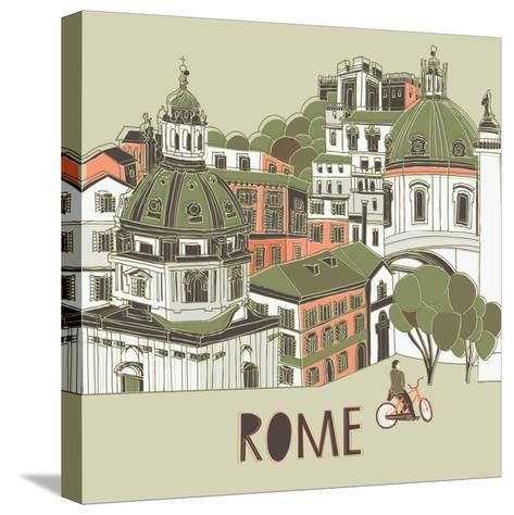 Rome Greeting Card Design-Lavandaart-Stretched Canvas Print