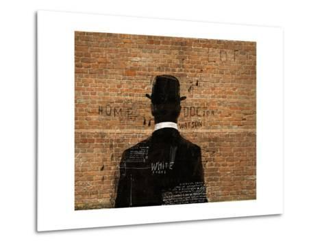 A Man in a Hat Who Turned His Back on Us-Dmitriip-Metal Print