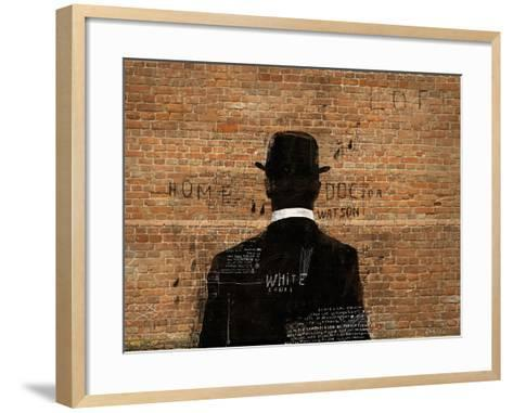 A Man in a Hat Who Turned His Back on Us-Dmitriip-Framed Art Print