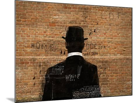 A Man in a Hat Who Turned His Back on Us-Dmitriip-Mounted Art Print