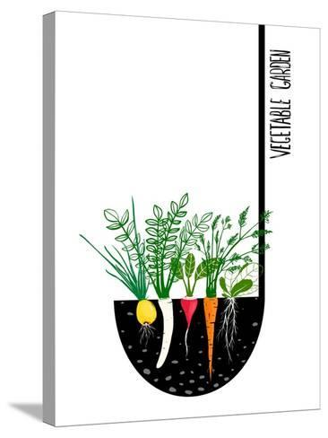 Grow Vegetable Garden and Cook Soup. Raster Variant.-Popmarleo-Stretched Canvas Print