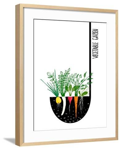 Grow Vegetable Garden and Cook Soup. Raster Variant.-Popmarleo-Framed Art Print