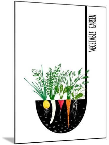 Grow Vegetable Garden and Cook Soup. Raster Variant.-Popmarleo-Mounted Art Print