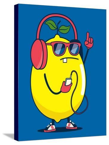Cool Lemon Character Vector Design for Kids Tee Shirt- braingraph-Stretched Canvas Print