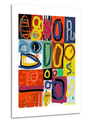 Image of Graffiti, Which Contains Multi Colored Figures-Dmitriip-Metal Print