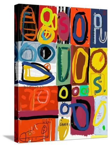 Image of Graffiti, Which Contains Multi Colored Figures-Dmitriip-Stretched Canvas Print