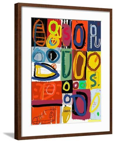 Image of Graffiti, Which Contains Multi Colored Figures-Dmitriip-Framed Art Print