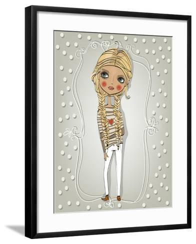 Cute Blonde Girl-Elena Barenbaum-Framed Art Print