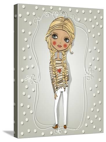 Cute Blonde Girl-Elena Barenbaum-Stretched Canvas Print