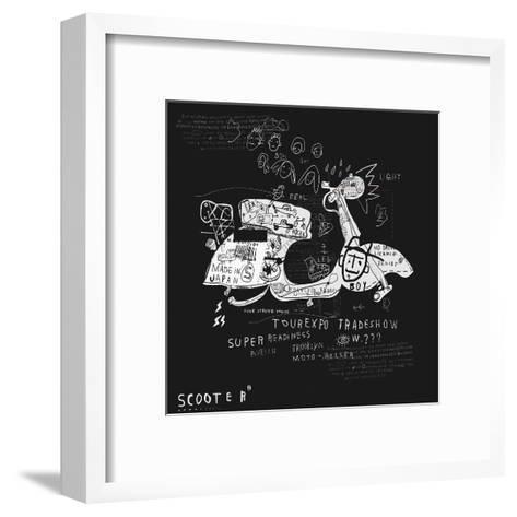 Image Scooter Which Has No Wheels-Dmitriip-Framed Art Print