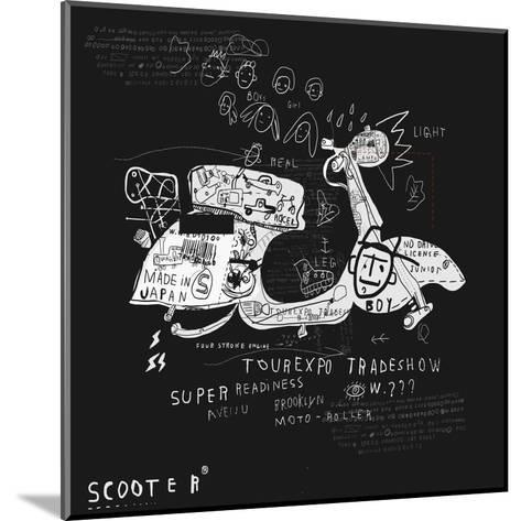 Image Scooter Which Has No Wheels-Dmitriip-Mounted Art Print