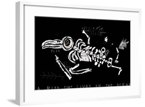 The Skeleton of a Bird Which Ate Plastic Waste and Died of Indigestion-Dmitriip-Framed Art Print