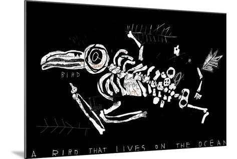 The Skeleton of a Bird Which Ate Plastic Waste and Died of Indigestion-Dmitriip-Mounted Art Print