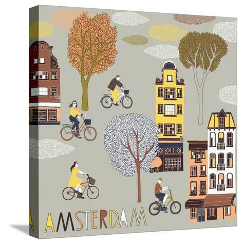 Amsterdam Print Design-Lavandaart-Stretched Canvas Print