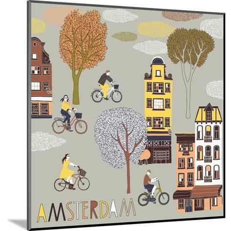 Amsterdam Print Design-Lavandaart-Mounted Art Print