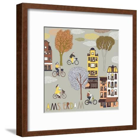 Amsterdam Print Design-Lavandaart-Framed Art Print