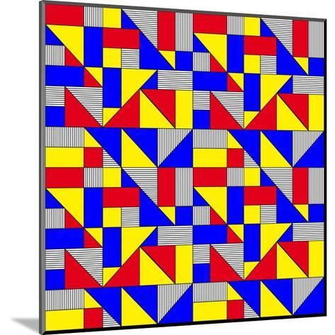 Triangles and Squares Geometrical Pattern-Bard Sandemose-Mounted Art Print