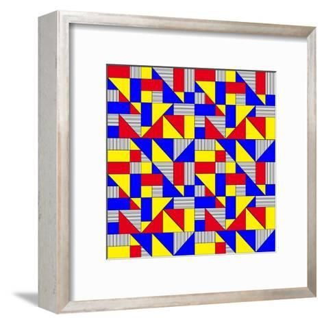 Triangles and Squares Geometrical Pattern-Bard Sandemose-Framed Art Print
