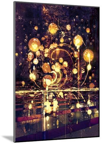 Light Bulb,Abstract Painting Concept,Illustration-Tithi Luadthong-Mounted Art Print
