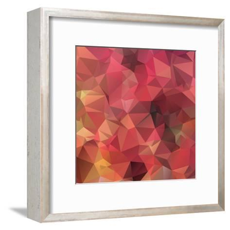 Background Abstract Geometric Rumpled Triangular Polygon Style-JAH MICRO-Framed Art Print