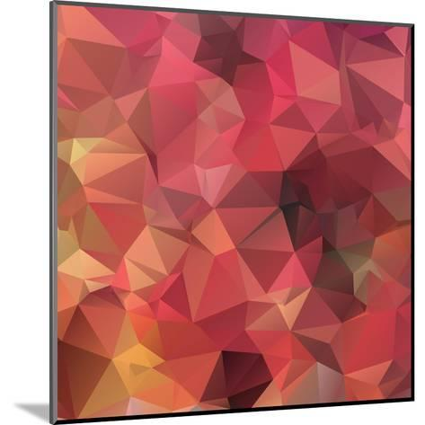 Background Abstract Geometric Rumpled Triangular Polygon Style-JAH MICRO-Mounted Art Print