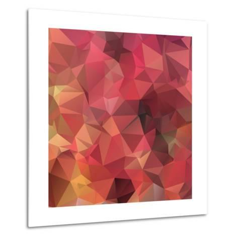 Background Abstract Geometric Rumpled Triangular Polygon Style-JAH MICRO-Metal Print