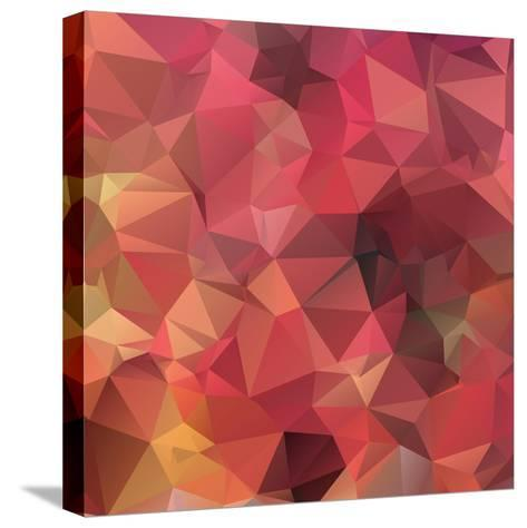Background Abstract Geometric Rumpled Triangular Polygon Style-JAH MICRO-Stretched Canvas Print