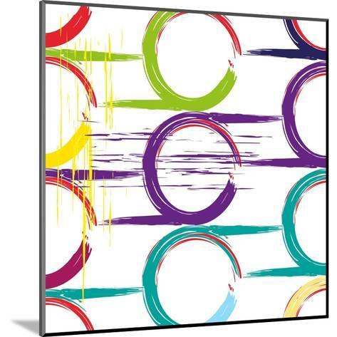 Background Pattern, with Circles, Strokes and Splashes, Grungy-thank you for shopping-Mounted Art Print