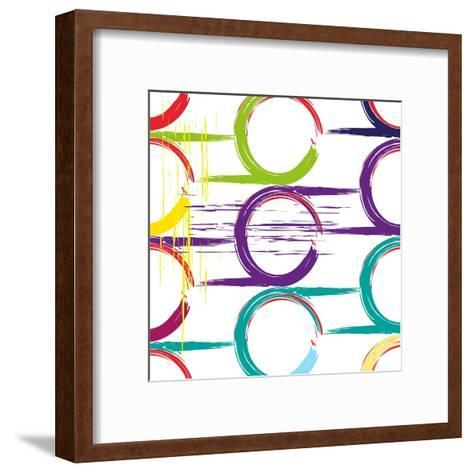 Background Pattern, with Circles, Strokes and Splashes, Grungy-thank you for shopping-Framed Art Print