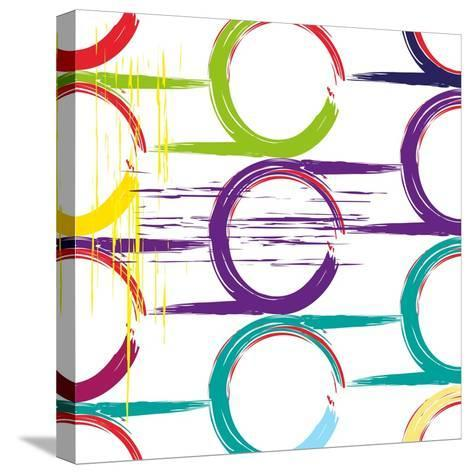 Background Pattern, with Circles, Strokes and Splashes, Grungy-thank you for shopping-Stretched Canvas Print