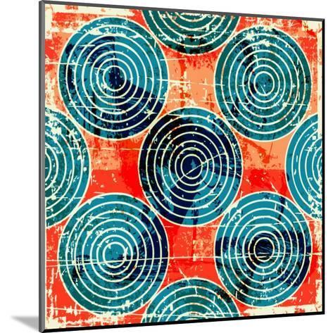 Grunge Circles Poster-Nik Merkulov-Mounted Art Print