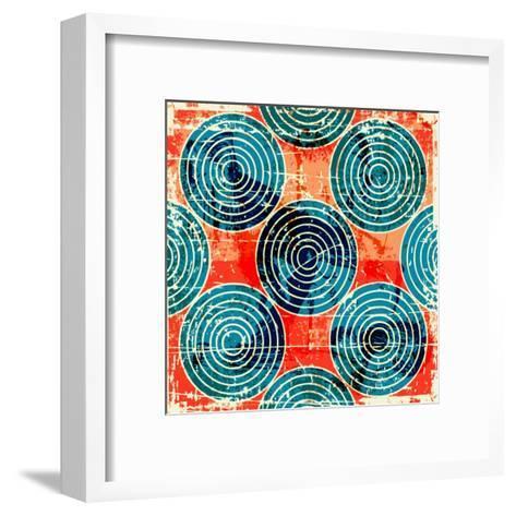 Grunge Circles Poster-Nik Merkulov-Framed Art Print