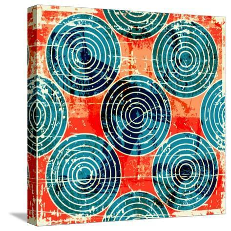Grunge Circles Poster-Nik Merkulov-Stretched Canvas Print