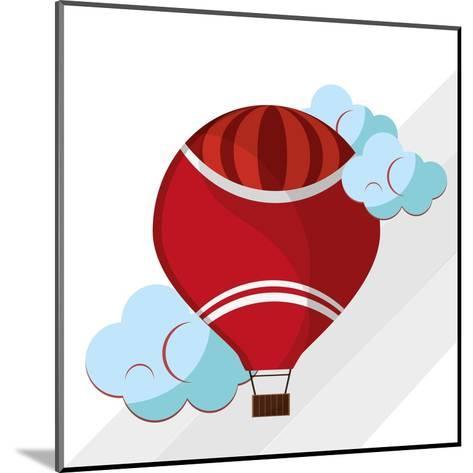 Hot Air Balloon Graphic , Vector Illustration- Jemastock-Mounted Art Print