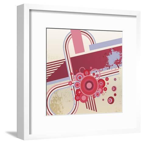 Grunge Vector Abstract Background.- storoch-Framed Art Print