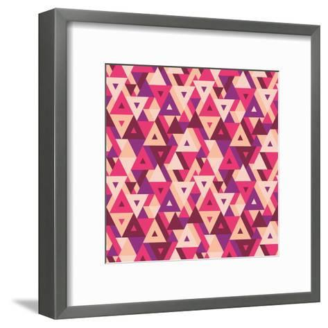 Abstract Geometric Background - Seamless Vector Pattern for Presentation, Booklet, Website and Othe-Sergey Korkin-Framed Art Print