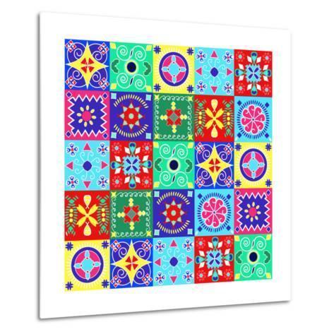 Seamless Pattern Holiday Cheerful Bright Design - Illustration- Fotinia-Metal Print