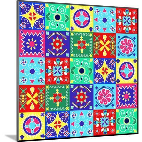 Seamless Pattern Holiday Cheerful Bright Design - Illustration- Fotinia-Mounted Art Print