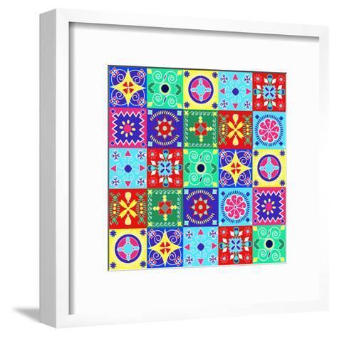 Seamless Pattern Holiday Cheerful Bright Design - Illustration- Fotinia-Framed Art Print